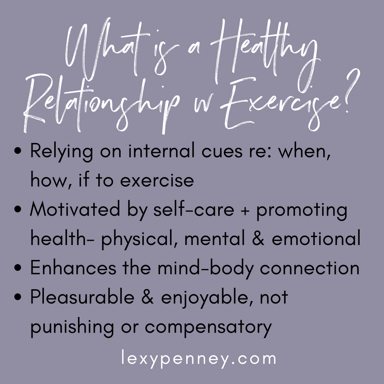what is a healthy relationship with exercise