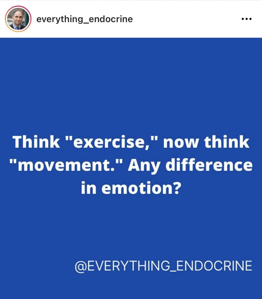 exercise vs. movement