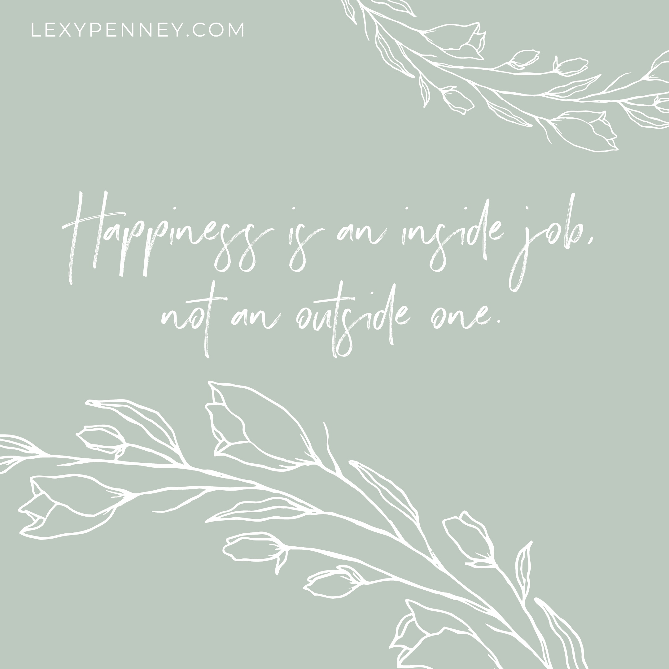 happiness is an inside job not an outside one