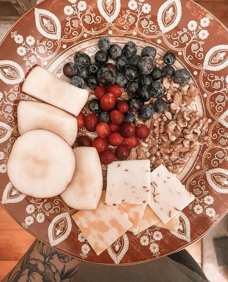 fall festive snack plate