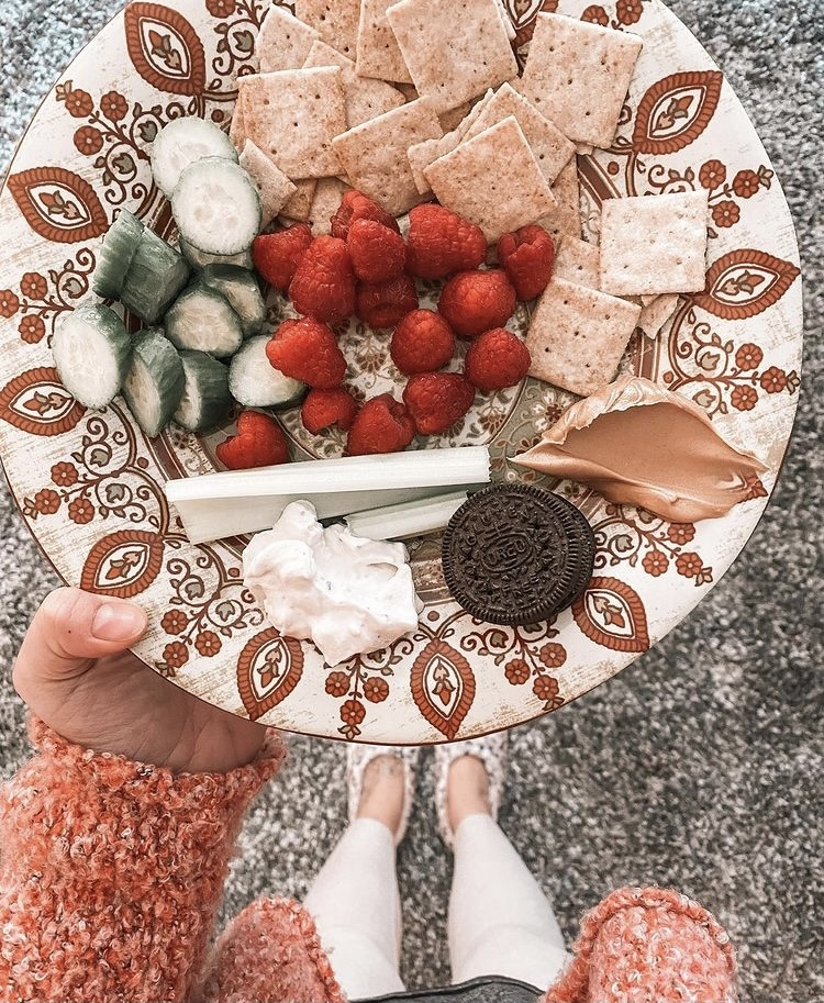 sweet, salty and tangy snack plate