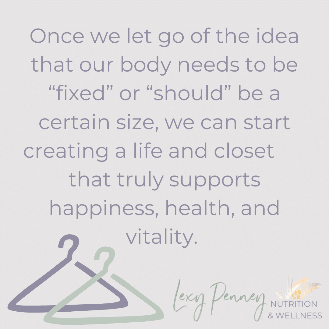 let go of the idea that your body needs to be fixed