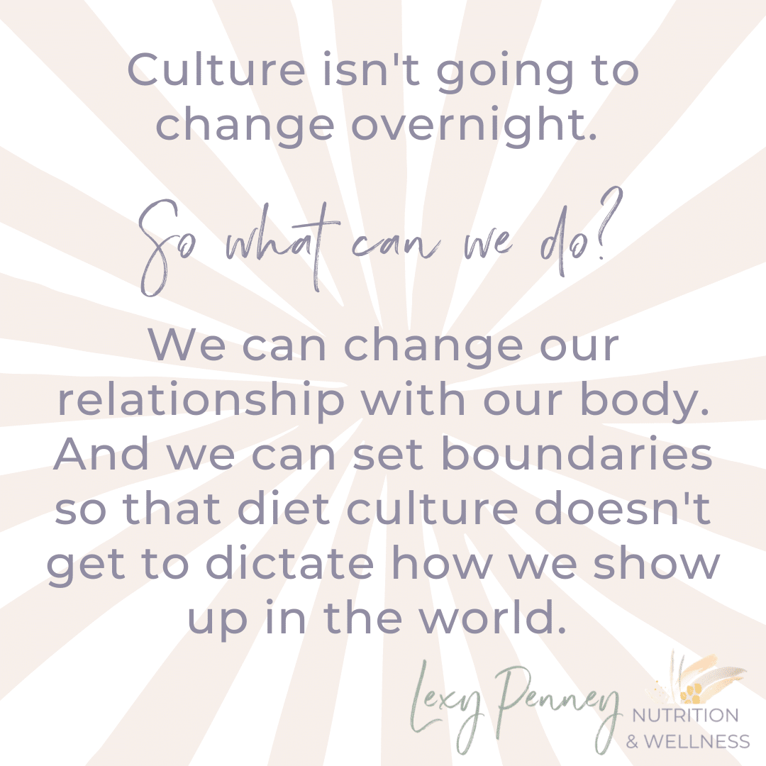 we can change our relationship with our body