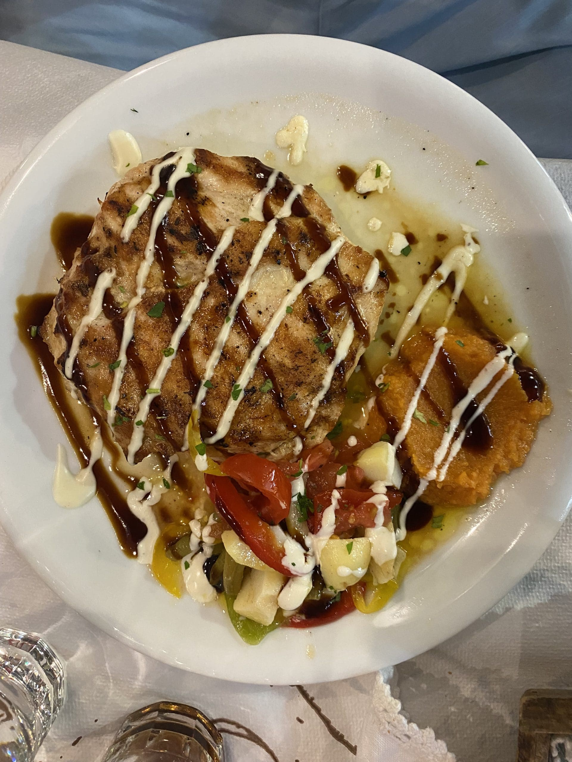 eric's chicken dish at archontoula milos