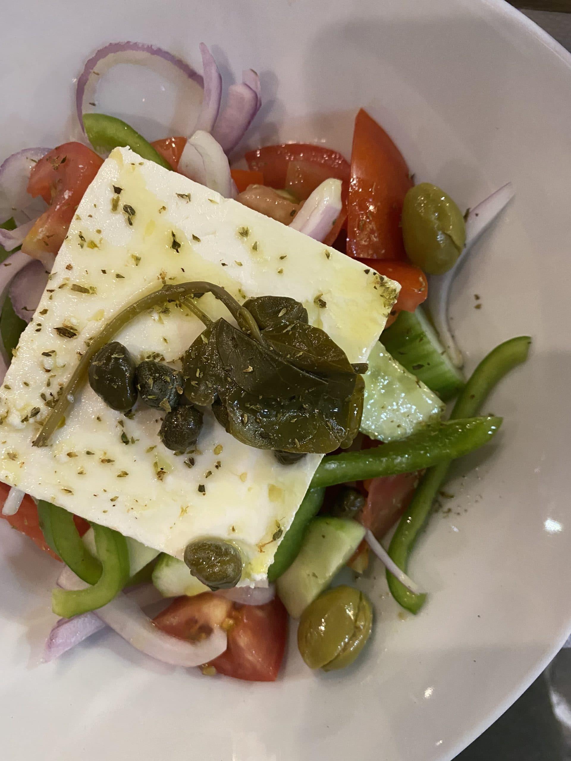 greek salad at archontoula milos