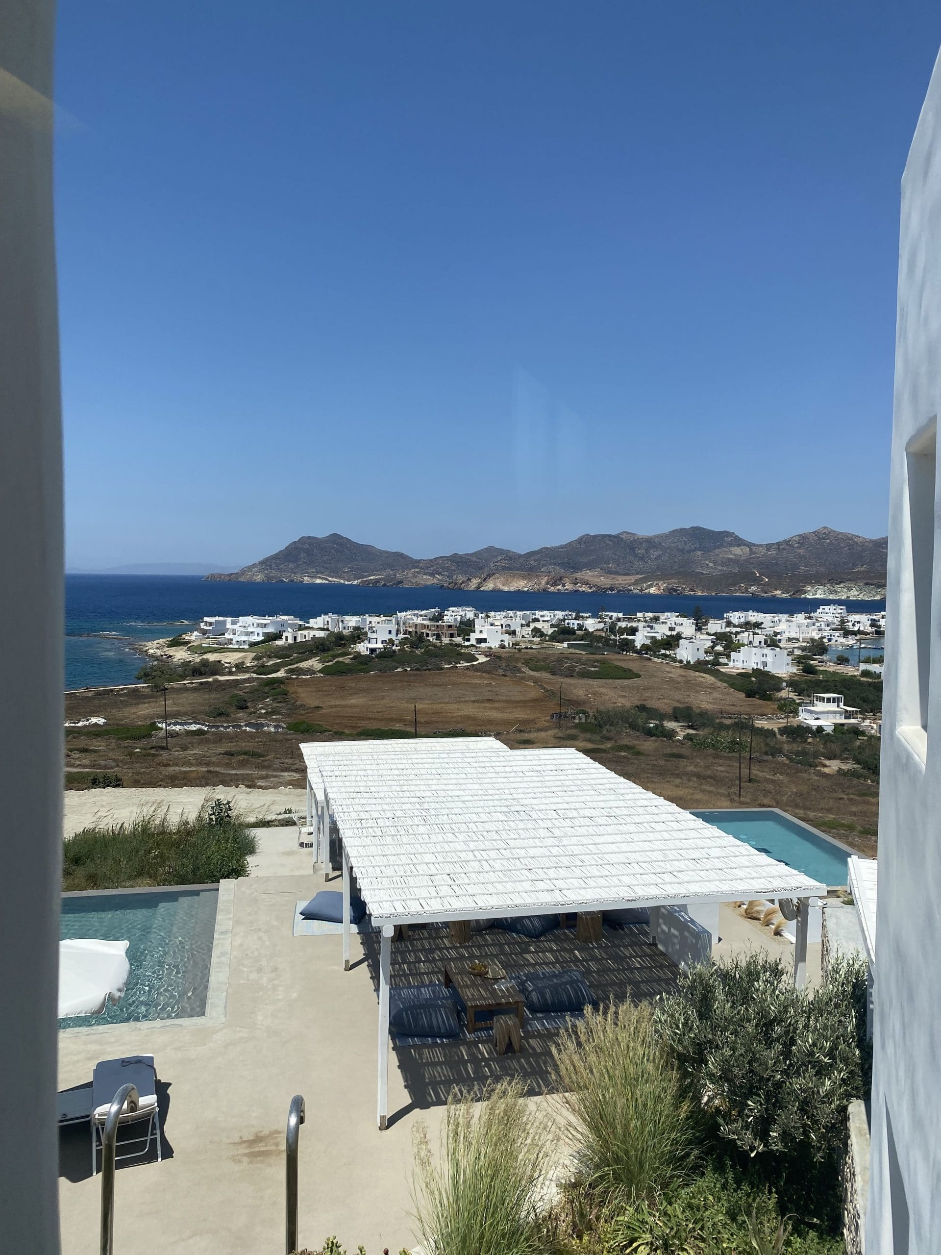 the view from our room in milos!