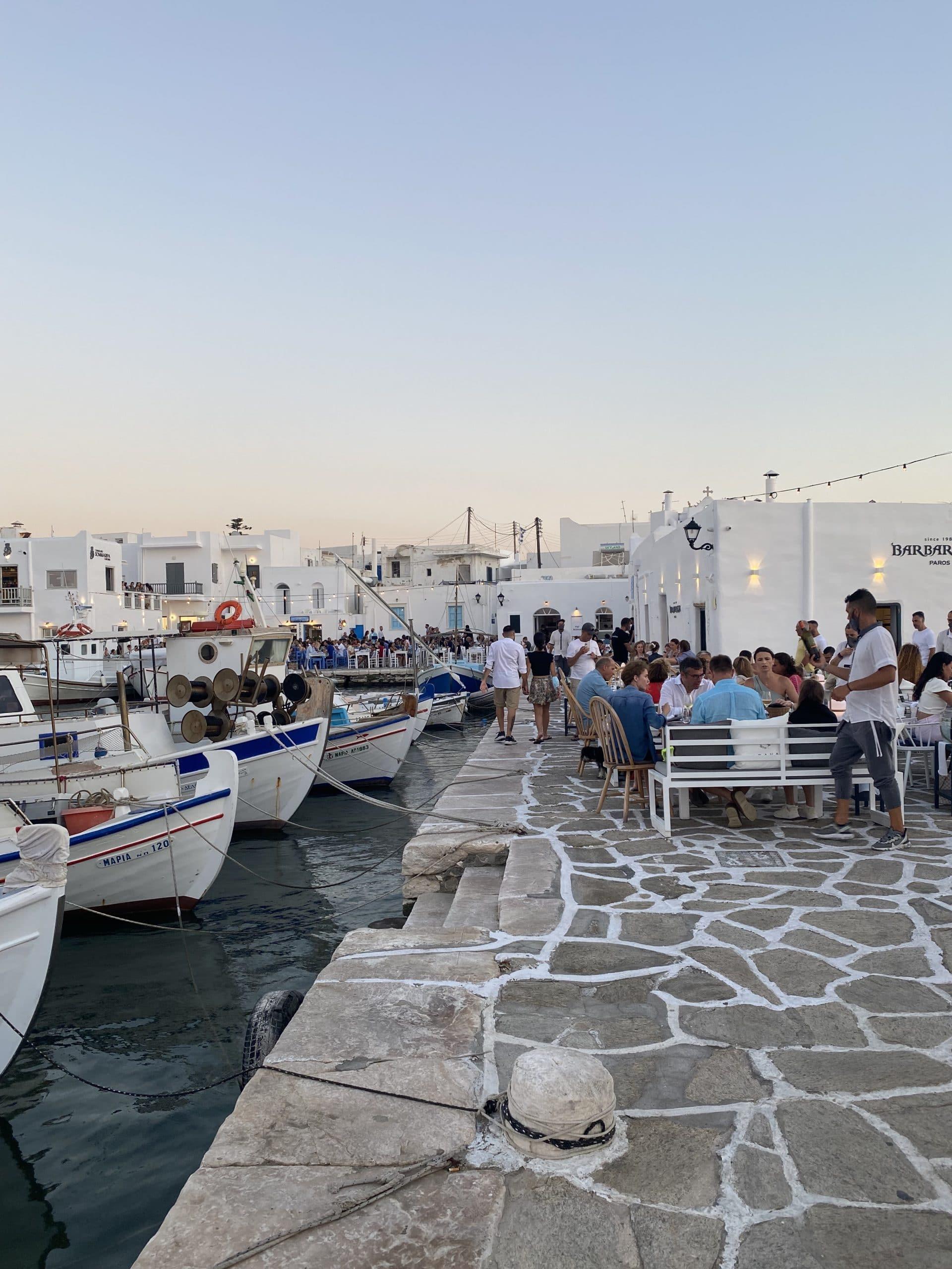 naoussa village paros greece